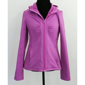Athleta Purple Full Zip Ruched Front Jacket